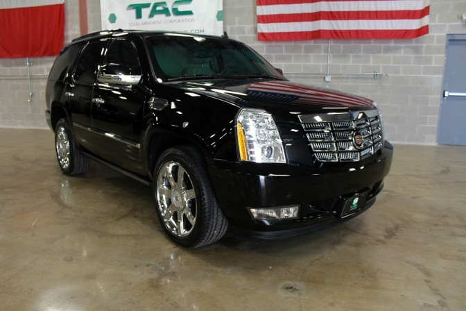 Armored Cars for Rent: Cadillac Escalade VIP Presidential – USA (Diplomat Armored Rentals)